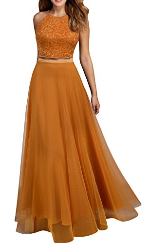 Viwenni Women's Vintage Lace Evening Party Wedding Long Dress XXL Yellow