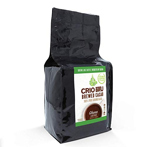 Crio Bru Ghana Light Roast 80oz (5 lb) Bag | Natural Healthy Brewed Cacao Drink | Great Substitute to Herbal Tea and Coffee | 99% Caffeine Free Gluten Free Whole-30 Low Calorie Honest Energy