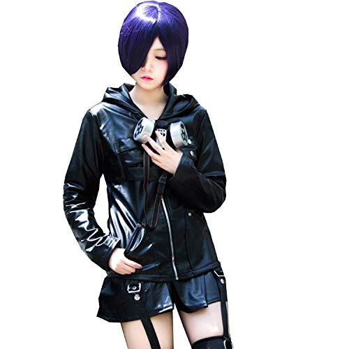 with Wig Tokyo Ghoul Kaneki Ken/Touka Kirishima Face Head Mask Novelty Cosplay Costume Party Outfit Full Sets