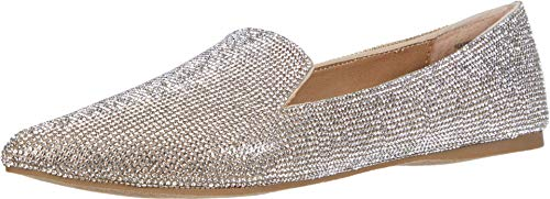 Steve Madden Feather-R Flat Rhinestone 7 M