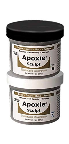 Waterproof Air Dry Clay for Sculpting & Repairs, A 2 Part Epoxy Putty Sculpting Clay That Adheres to All Surfaces & is Self Hardening, 1 lb, Black