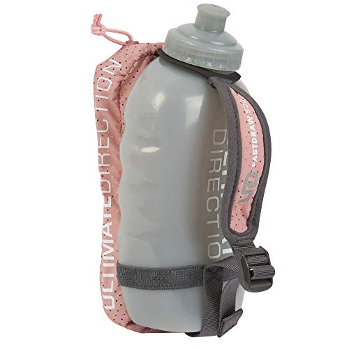 Ultimate Direction Fastdraw, Handheld Running Water Bottle Carrier with Mesh Storage for Essentials (Bottle Included), 500 ml Millennial Pink