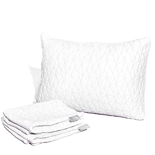 Coop Home Goods - Breathable Ultra Soft Noiseless Pillowcase - Patented Lulltra Fabric from Bamboo Derived Viscose Rayon and Polyester Blend - Queen Size 20'x 30'