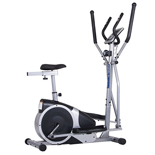 Body Champ Magnetic Cardio Dual Trainer - Elliptical and Upright Exercise Bike BRM2720