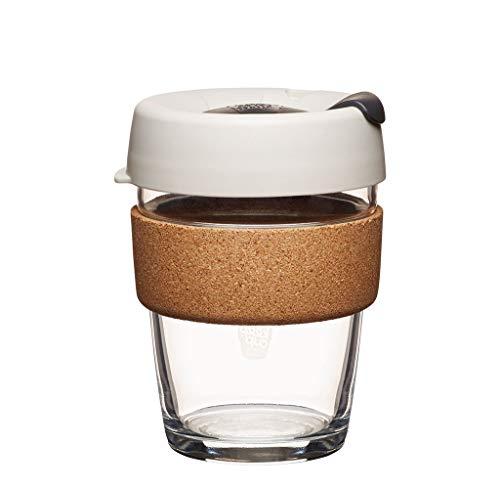 KeepCup 12oz Reusable Coffee Cup. Toughened Glass Cup & Natural Cork Band. 12-Ounce/Medium, Filter - BFIL12