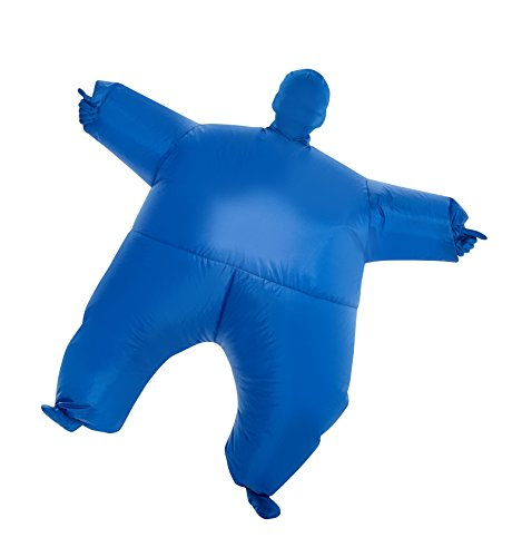 MorphCostumes Blue MegaMorph Kids Inflatable Blow Up Costume - One Size