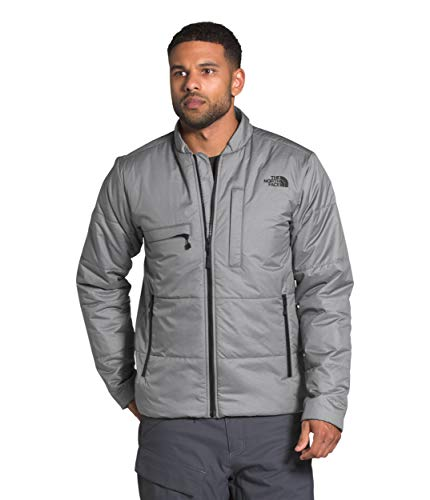 The North Face Men's Powderflo Insulated Mid-Layer Jacket, TNF Medium Grey Heather, L
