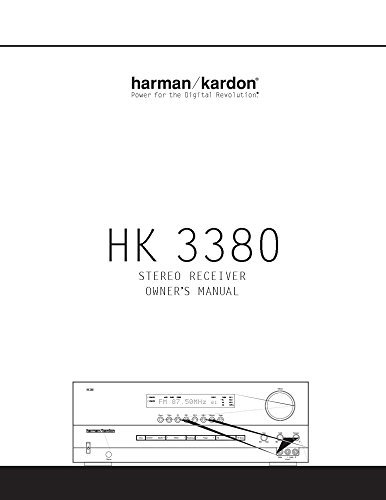 Harman Kardon HK-3380 Receiver Owners Instruction Manual Reprint [Plastic Comb]