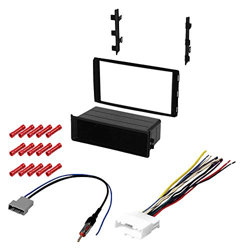 CACHÉ KIT2002 Bundle with Car Stereo Installation Kit for 2014 – 2016 Nissan Versa Note – in Dash Mounting Kit, Harness, Antenna for Single or Double Din Radio Receivers (4 Item)