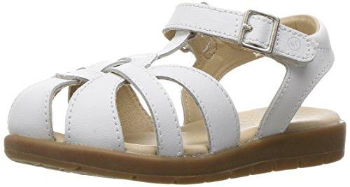 Stride Rite girls Summer Time Sandal (Toddler/Little Kid),White,10 M US Toddler
