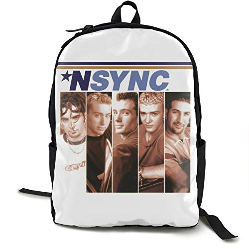 NSYNC Backpack Campus School Bag Casual Backpack Gym Travel Hiking Canvas Backpack Width 12.5 Height 16.5