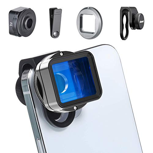 Anamorphic Phone Camera Lens for iPhone - ULANZI 1.55XT Filmmaking Smartphone Lens 2.8:1 Ratio Mobile Widescreen Cinimatic Movie Lens Attachments Accessories Work with FilmicPro/Moment/Promovie App