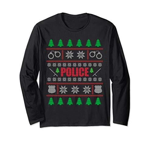 Police Ugly Christmas Sweater Long Sleeve Shirt