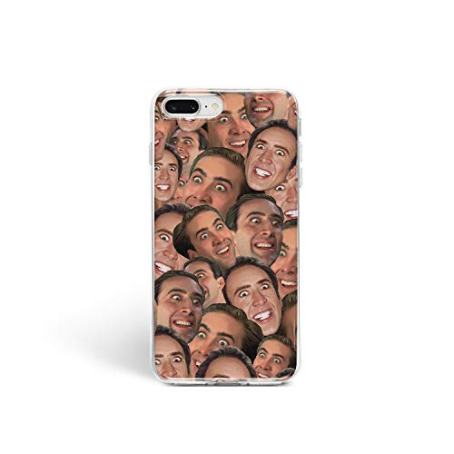 Convenient Cell Phone Cover Case Apple iPhone Art Design Silicone Durable Protective Clear Skin Cover Case for (Nicolas Cage Fases, iPhone X/XS)