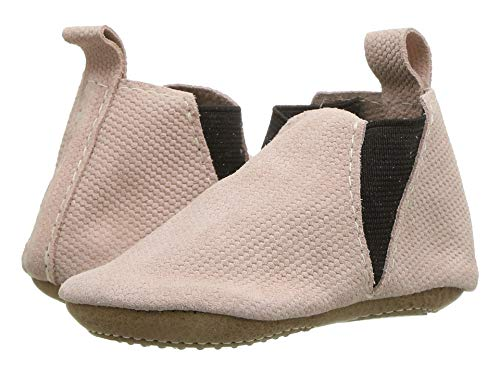 Freshly Picked Baby Girl's Blush Knit Chelsea Boot Mini Sole (Infant/Toddler) Pink/Brown 6 Toddler
