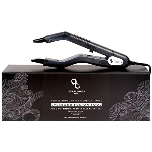Hair Extension Fusion Bonding Tool by Everlong Hair, Patented Professional Grade Ergonomic Patented Design Keratin Glue Melting Connector Wand U-tip, Keratip, Fusion 100% Remy Human Hair Extensions