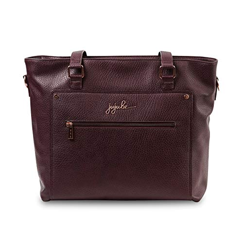 JuJuBe Everyday Tote Vegan Leather Travel Bag, Ever Collection - Plum