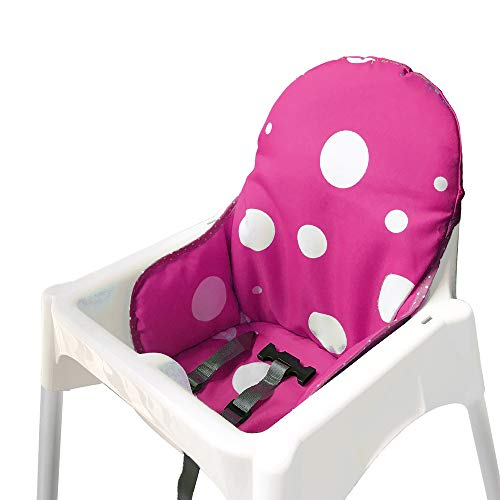 AT Seat Covers Cushion for IKEA Antilop Highchair, Washable Foldable Baby Highchair Cover IKEA Childs Chair Insert Mat Cushion (Purple)