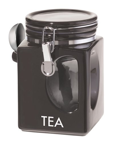 Oggi EZ Grip Tea Canister, Black