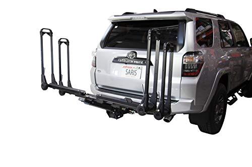 Saris MTR 2-Bike Hitch Car Rack, 2 Bike Carrier, Black