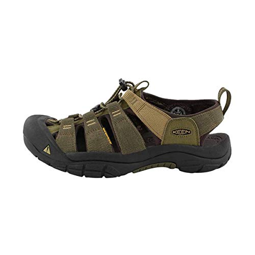 KEEN Men's Newport Hydro-M Sandal, Dark Olive/Antique Bronze, 13 M US