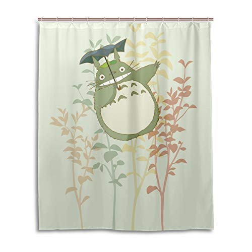 MESKERIA Totoro Shower Curtain Liner Waterproof Polyester Fabric Bathroom Shower Curtain Fabric Shower Curtain 12 Hooks 60 x 72 inches
