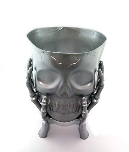 Halloween Skull Skeleton Plastic Candy Dish (SILVER-1)