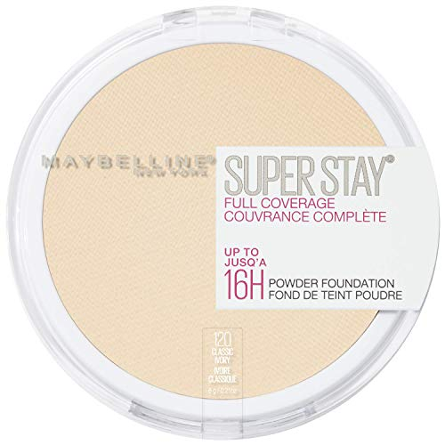 Maybelline New York Super Stay Full Coverage Powder Foundation Makeup , 120 CLASSIC IVORY