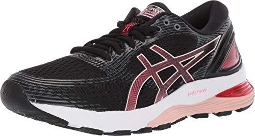 ASICS Women's Gel-Nimbus 21 Running Shoes, 8M, Black/Laser Pink