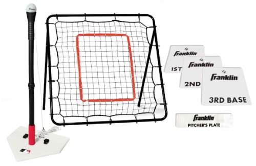 Franklin Sports MLB Teeball Starter Set - Throw Down Baseball Bases, Batting Tee and Pitch Back - Complete Teeball Equipment Set