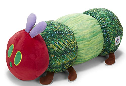 KIDS PREFERRED World of Eric Carle, The Very Hungry Caterpillar Cuddle Pal Plush, 10'
