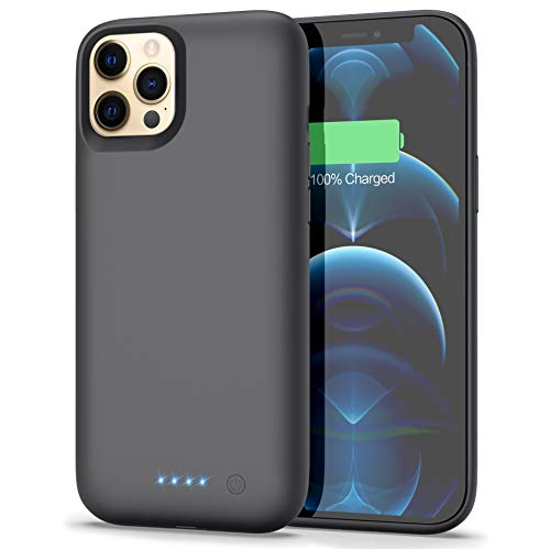Battery Case for iPhone 12 Pro Max [6.7 inch], Pxwaxpy [7800mAh] Portable Protective Charging Case Extended Battery Backup Pack for Apple iPhone 12 Pro Max Rechargeable Charger Case