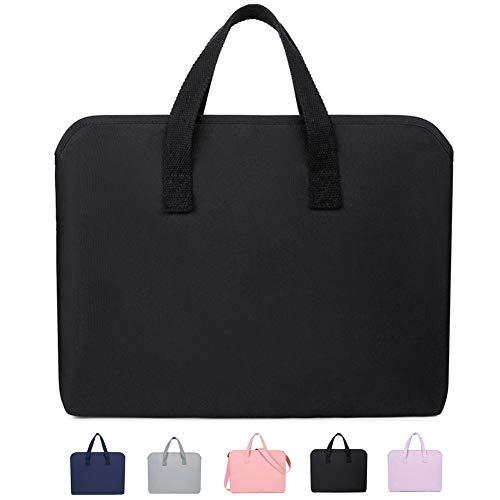 KUSDET Laptop Sleeve Case for 13-13.3 inch MacBook Pro, MacBook Air, Computer Notebook Ultrabook Tablet Shoulder Bag Carrying Handbag Briefcase (13-13.3 inch, Black)