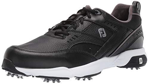 FootJoy Men's Sneaker Golf Shoes, Black, 9.5 W US