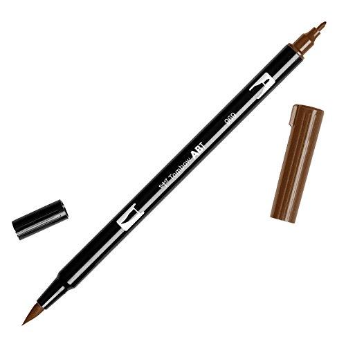 Tombow Dual Brush Pen Art Marker, 969 - Chocolate, 1-Pack