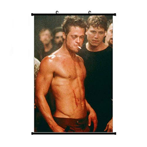 Fight Club Pitt Brad's Abs Posters Wall Art Prints Bedroom Scroll Poster Wall Decor 16 x 24 inches