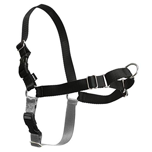 PetSafe Easy Walk Dog Harness, No Pull Dog Harness, Black/Silver, Petite