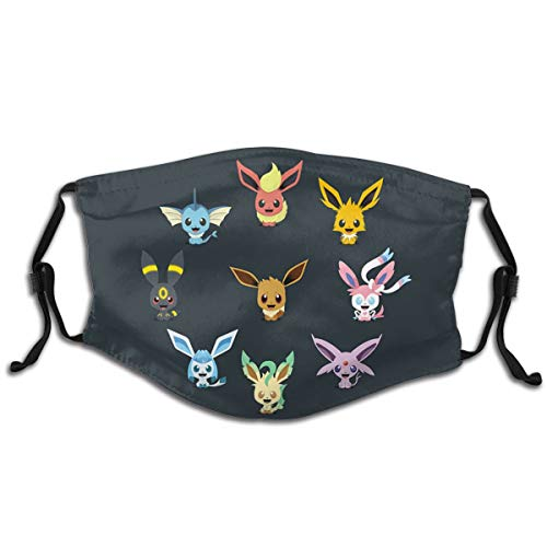 Fabric Child Eeveelutions Anti-Dust Masks Protection Reusable Face Masks for Kids Cover 1 Pcs