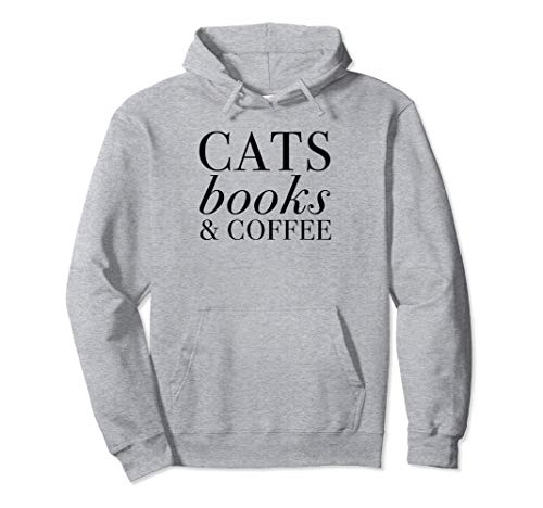 Cats Books & Coffee Pullover Hoodie