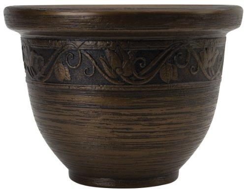 Listo 9-Inch Glaze Resin Pottery, Celtic Bronze