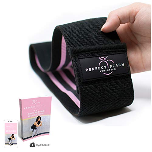 Perfect Peach Athletics Hip Band Circle - Non Slip Fabric Resistance Bands for Women - Booty Bands Slingshot to Beachbody Katy Hearn Glute Bands Mark Bell Hip Thruster Loop for Women