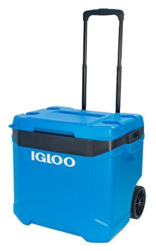 Igloo Latitude 60qt Roller Cooler, Fiesta Blue/Obsidian Gray