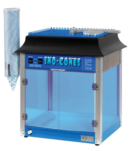 Paragon - Manufactured Fun 1911 SNO Cone Machine for Professional Concessionaires Requiring Commercial Heavy Duty Snow Cone Equipment 1/3 Horse Power 792 Watts