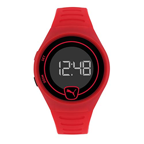 PUMA Men Faster Polyurethane Watch, Color: Red/Black (Model: P5029)