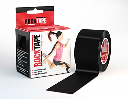 RockTape Original 2-Inch Water-Resistant Kinesiology Tape, 16.4-Foot Continuous Roll, Black