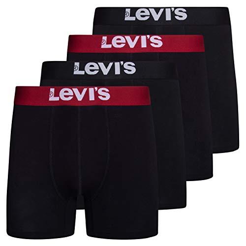 Levi's Mens Stretch Boxer Brief Underwear Stretch Underwear 4 Pack Black