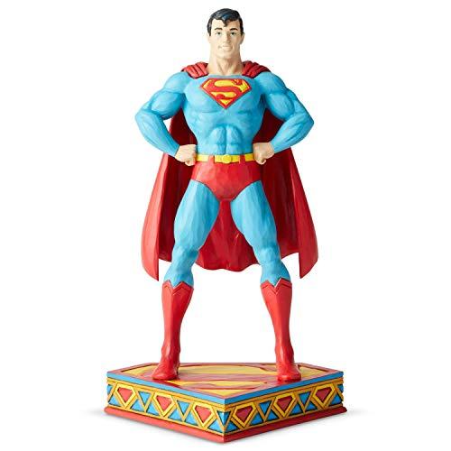 Enesco DC Comics Justice League by Jim Shore Superman Silver Age Figurine, 8.5 Inch, Multicolor