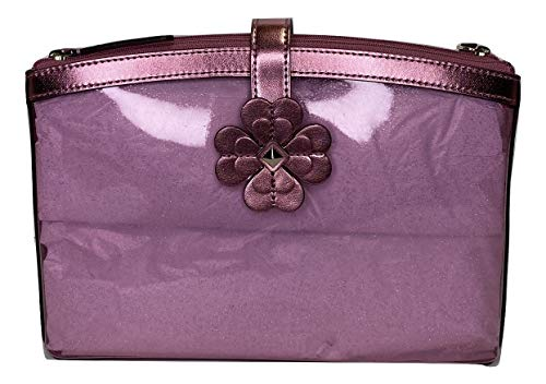 Kate Spade New York Sabine Large Double Compartment Cosmetic Bag WLRU5812 (Metallic Pink Sapphire)