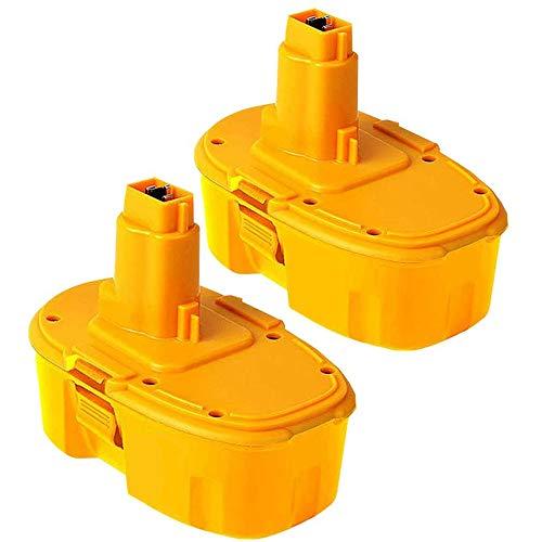 2 Pack 18V 4.0Ah DC9096 Ni-MH Replacement Battery for Dewalt 18Volt DC9099 DC9098 DE9039 DW9099 DW9096 DW9098 DC9181 Cordless Power Tools
