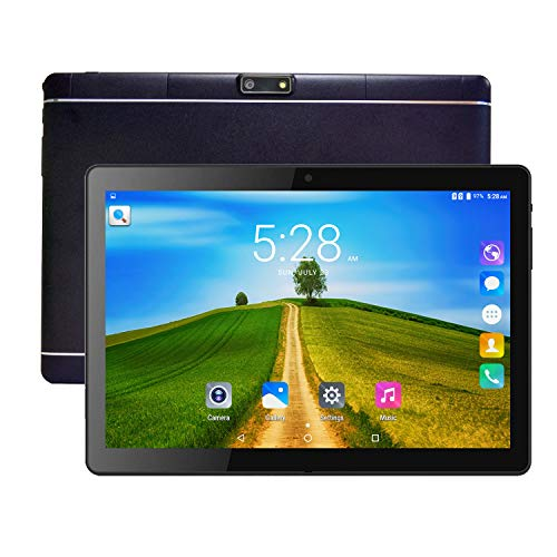 Tablet PC, Veidoo 10 Inch Android Tablet, 10.1 inch IPS Screen, Dual Camera, WiFi/GPS/OTG/Bluetooth, 3G Phone Call Dual SIM Card Slots, 1GB RAM, 16GB Storage, 5000mAh Battery (Black)